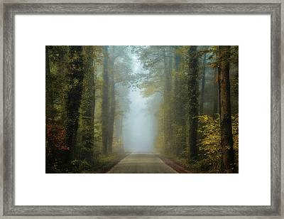 Entrance To Autumn Framed Print by Martin Podt