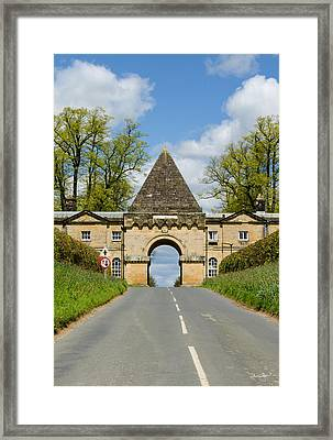 Entrance To Burghley House Framed Print