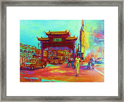Entrance To Chinatown Framed Print