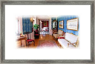 Entrance To Dining Room. Framed Print by Ralph Liebstein