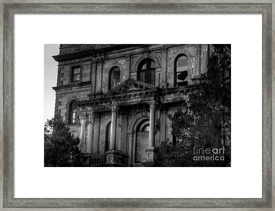 Entrance To Greystone Framed Print by Jeffrey Miklush