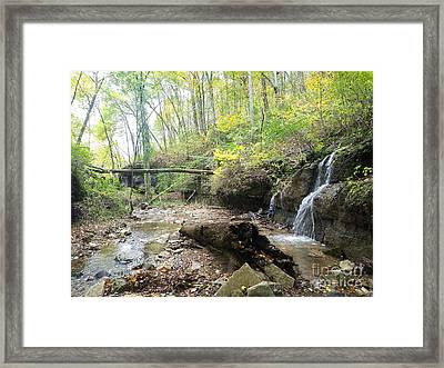 Entrance To The Land Of Lost Time Framed Print by Scott D Van Osdol
