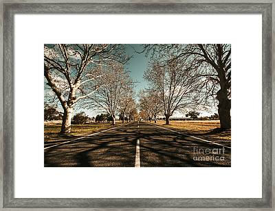 Entrance To Narrandera The Town Of Trees Framed Print