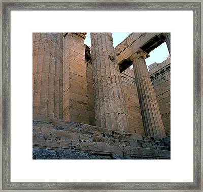 Entrance To Past Life   Acropolis Framed Print by Blima Efraim