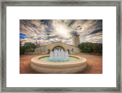 Entrance To Robert Mondavi Winery - Napa Framed Print by Jennifer Rondinelli Reilly - Fine Art Photography