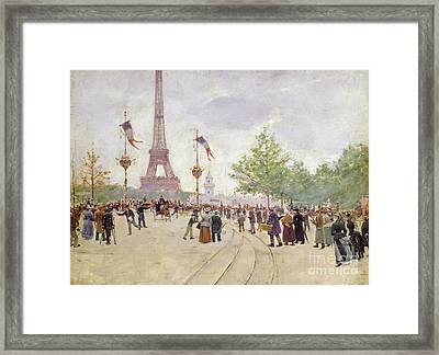 Entrance To The Exposition Universelle Framed Print by Jean Beraud