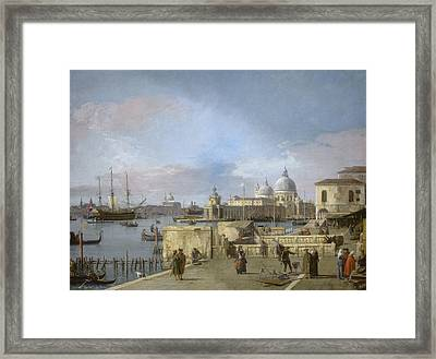 Entrance To The Grand Canal From The Molo - Venice Framed Print by Canaletto