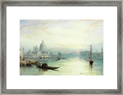 Entrance To The Grand Canal, Venice Framed Print by Myles Birket Foster