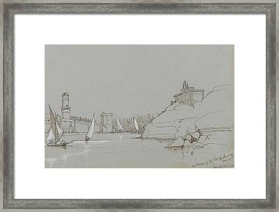 Entrance To The Port Of Marseilles Framed Print