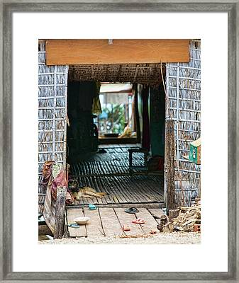 Entrance To Tonle Sap Home  Framed Print