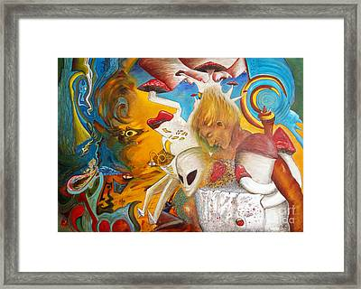 Entre Dos Mundos - Between Two Worlds Framed Print by Raul Morales