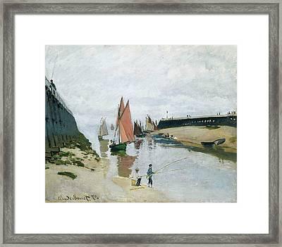 Entree Du Port De Trouville Framed Print by Claude Monet