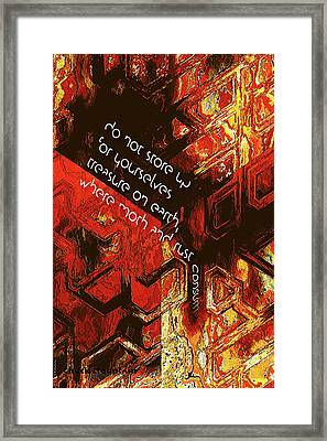 Framed Print featuring the digital art Entropy by Chuck Mountain