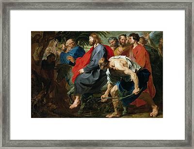 Entry Of Christ Into Jerusalem Framed Print by Sir Anthony van Dyke
