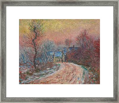 Entry To Giverny In Winter  Sunset Framed Print