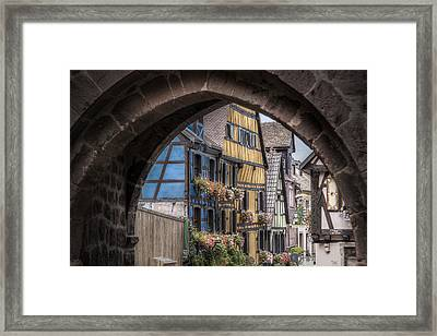 Entry To Riquewihr, Alsace Framed Print