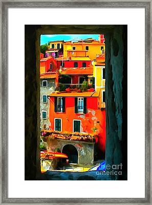 Entry Way Painting Framed Print