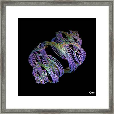 Entwined Strands Framed Print by Julie Grace