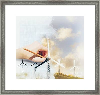 Environment Engineer Drafting Sustainable Design Framed Print by Jorgo Photography - Wall Art Gallery