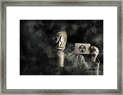 Environmental Pollution Concept Framed Print