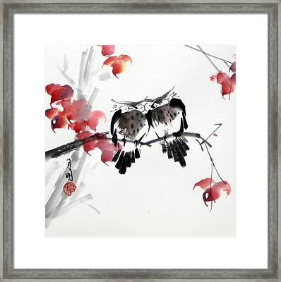 Envoy Of Fall Framed Print by Ming Yeung