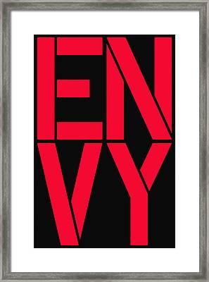 Envy Framed Print by Three Dots