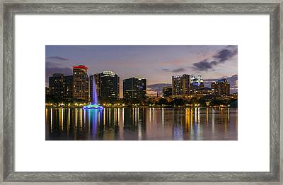 Eola Evening Framed Print by Mike Lang