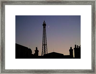 Epcot France Night Framed Print