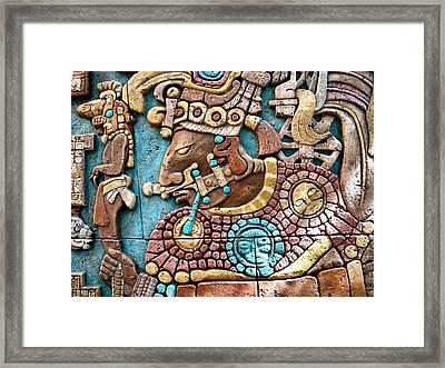 Epcot Mayan Warrior Framed Print