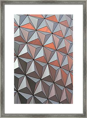 Epcot Pattern Framed Print by Linda Phelps