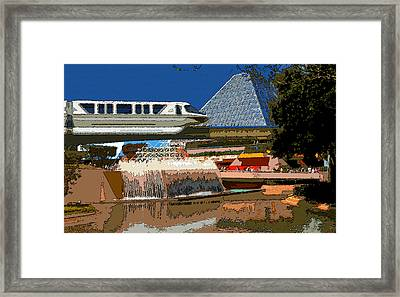 Epcot Scenic Framed Print by David Lee Thompson