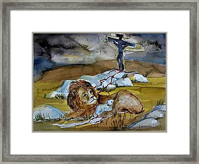 Framed Print featuring the painting Ephesians 2 13 by Mindy Newman