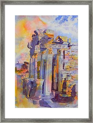 Ephesus Ruins Framed Print by Warren Thompson