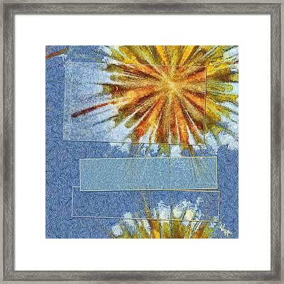 Epiblema Concrete Flower  Id 16163-233235-31521 Framed Print by S Lurk