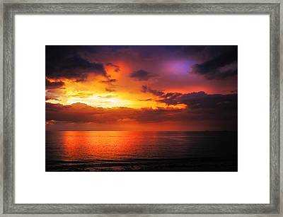 Epic End Of The Day At Equator Framed Print