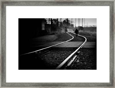 Epic Journey Of The Unknown Man Framed Print
