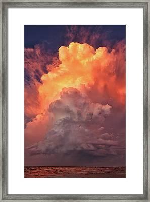 Epic Storm Clouds Framed Print