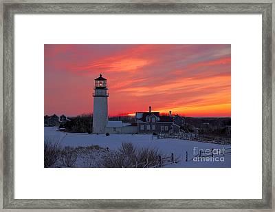 Epic Sunset At Highland Light Framed Print by Amazing Jules