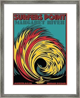 Epic Surf Designs Surfers Point  Framed Print by Larry Butterworth
