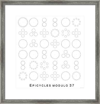 Epicycles Modulo 37 Framed Print by Martin Weissman