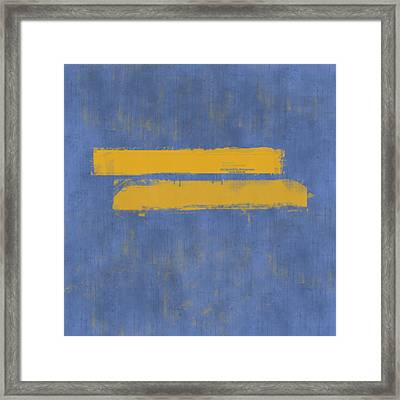 Equal Framed Print by Julie Niemela