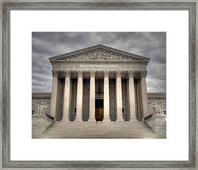 Equal Justice Framed Print by Mitch Cat
