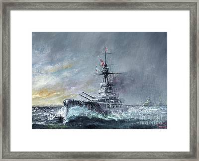 Equal Speed Charlie London, Jutland 1916 Framed Print