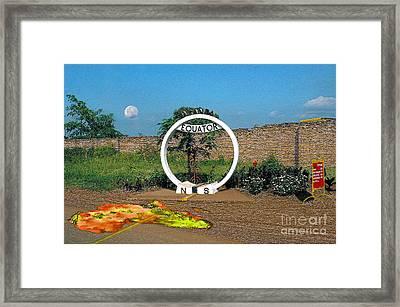 Equator Crossing Point Framed Print by Morris Keyonzo