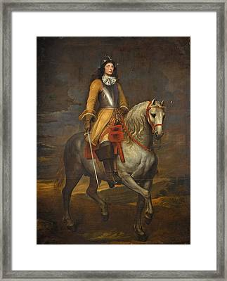 Equestrian Portrait Of A General Of The Holy Roman Empire Framed Print by Follower of  Anthony van Dyck