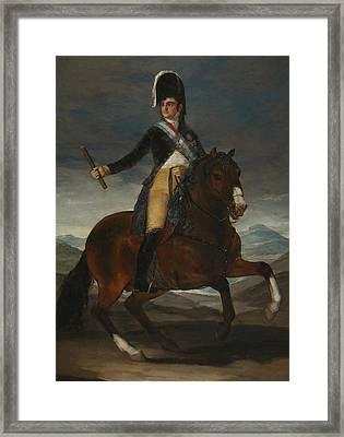 Equestrian Portrait Of Fernando Vii Framed Print