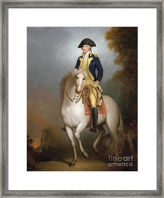 Equestrian Portrait Of George Washington Framed Print by Rembrandt Peale