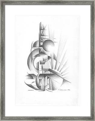 Equilibre Framed Print by Muriel Dolemieux