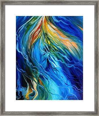 Equine Illusion In Blue Framed Print by Marcia Baldwin