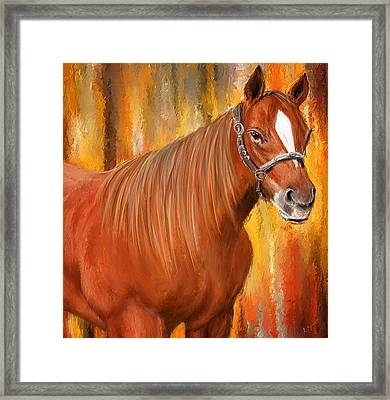 Equine Prestige - Horse Paintings Framed Print